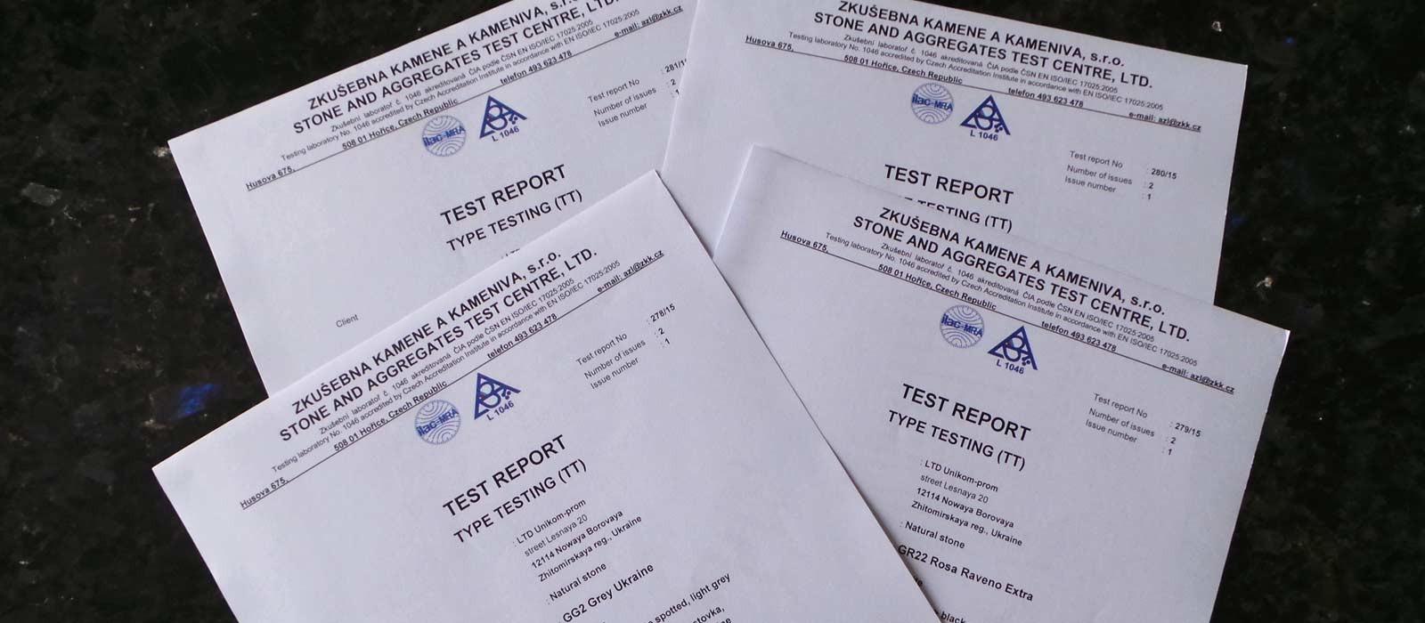 European test certificates